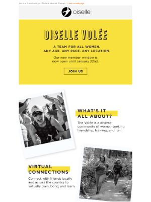 Oiselle - You're Invited - Volée Team spots now open