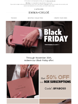 Emma & Chloé US - BLACK FRIDAY: YOUR BOX FOR ONLY $17.50!