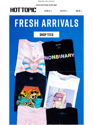 Hot Topic - Meet your new favorite tees 👕❤