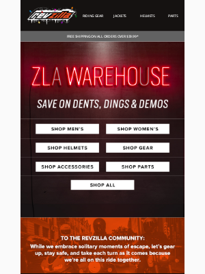 RevZilla - Save BIG on dings, dents, and demos