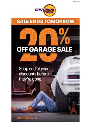 Speedway Motors - Last Chance at 20% off Garage Sale 💸