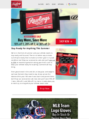 Rawlings Sporting Goods - You'll Save Up To 30% On Accessories Now!⚾