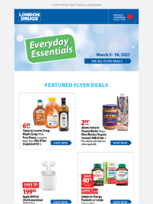 London Drugs (CA) - Shop our weekly flyer! Save 40% off select Jamieson Omega, Probiotic or Lutein products