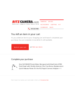 Ritz Camera - Complete your Purchase