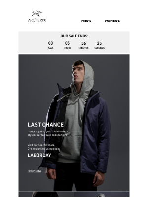 Arc'teryx - Shop Now: Our Sale is Ending