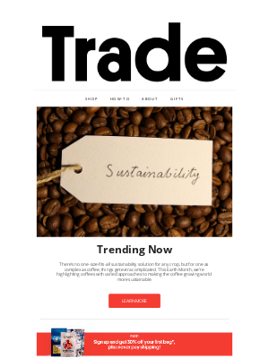 Trade Coffee - Sustainably Delicious