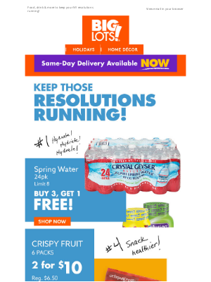 Big Lots - Savings for a a healthier YOU!