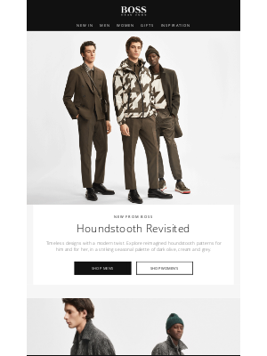 HUGO BOSS (UK) - Timeless houndstooth with a twist