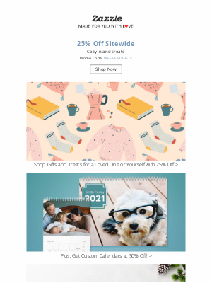 Zazzle - Get Cozy with 25% Off Everything!