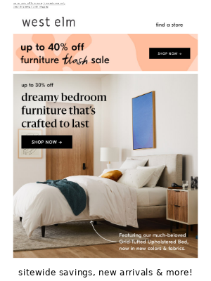 Dreamy bedroom furniture at VERY dreamy prices