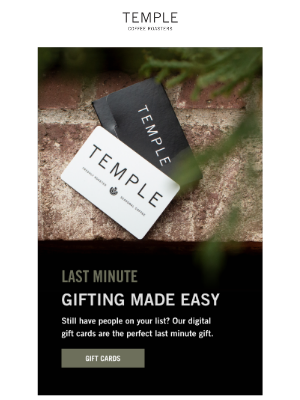 Temple Coffee Roasters - Last Minute Gifts 🎁 Instantly.