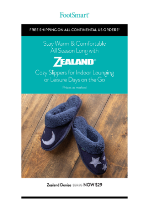 FootSmart - Cozy Slippers For Indoor Lounging