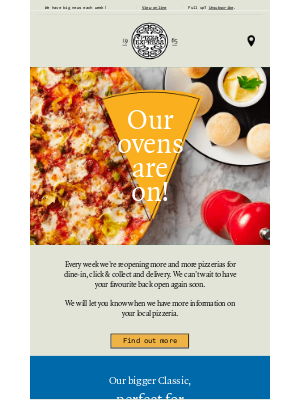 PizzaExpress (UK) - Charles, don't miss our exciting updates!