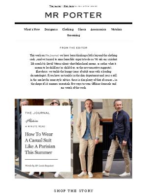 One suit, five ways — Officine Generale's Mr Pierre Mahéo shows you how