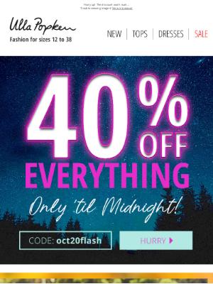Ulla Popken USA - 40% Ends at Midnight 🌙