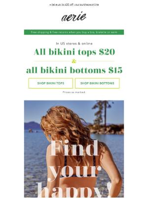 👙 $20 bikini tops & $15 bikini bottoms