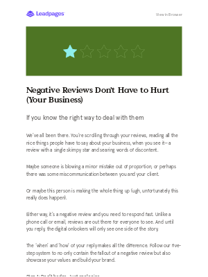 5 steps to reverse a negative review