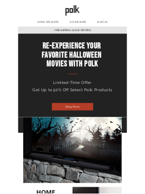 Polk Audio - Re-experience your favorite Halloween movies with Polk