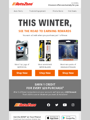 AutoZone - The road to Rewards starts here