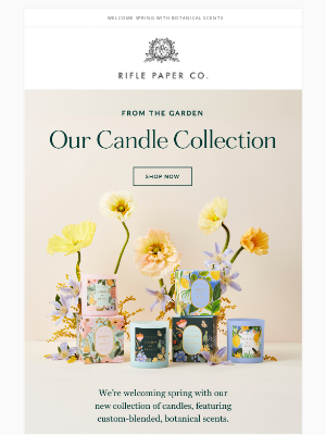 Rifle Paper Co. - 3 New Candles!