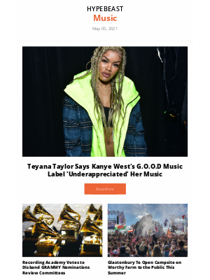HYPEBEAST - Your Music Round-Up: Teyana Taylor Says Kanye West's G.O.O.D Music Label 'Underappreciated' Her Music and more