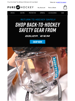 Pure Hockey - Bauer Concept III Face Shields & Splash Guards Are Now Available!