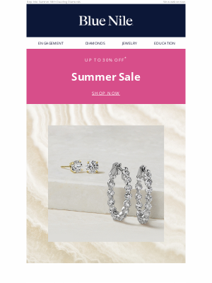 Blue Nile - Up To 30% Off Diamond Earrings & More For Summer