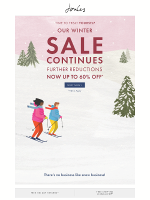 Joules (US) - Go on… up to 60% off in our Winter Sale