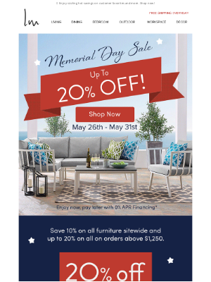 Lexmod - 🌟🌟 Up To 20% OFF For Memorial Day! 🌟🌟