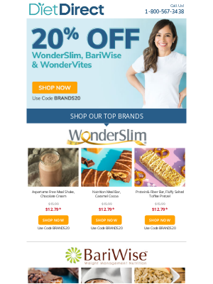 Diet Direct - ⭐ Top Rated Brands - 20% Off - Today Only!