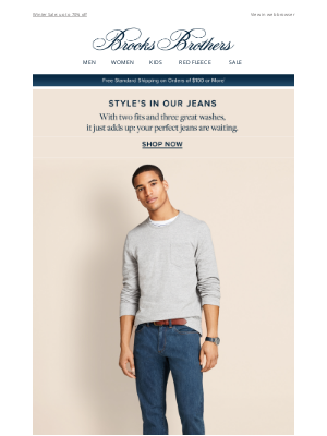 Brooks Brothers - Great style is in our jeans