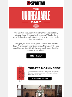 The Unbreakable Daily: Forecasting the future