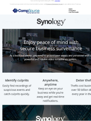 CompSource - Enjoy peace of mind with a secure surveillance system
