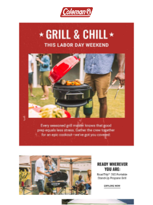 Coleman Company - The heat is on: Time to prep for a Labor Day cookout