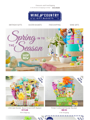 WineCountryGiftBaskets - Start a new Easter tradition!