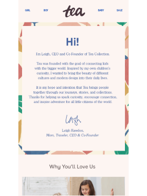 Tea Collection - A Note From Our CEO, Leigh