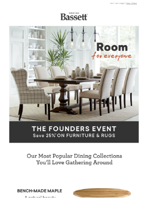 Bassett Furniture Industries - These Are Our Most-Loved Dining Collections