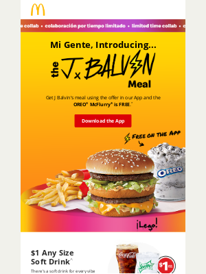 McDonald's - The J Balvin Meal is out… NOW! ⚡