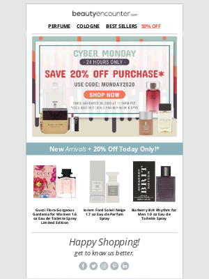 Beauty Encounter - The Cyber Monday Sale you've been waiting for! Today Only!