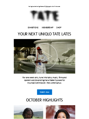 Tate (UK) - 🎥  For one week only: Uniqlo Tate Lates
