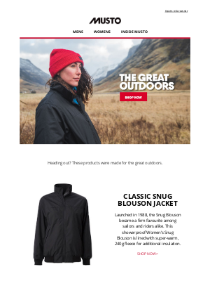 Musto UK - Made for the outdoors