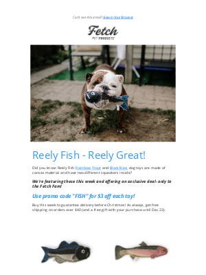 Fetch Pet Products - 🌟 Product Spotlight: Save on Reely Fish dog toys
