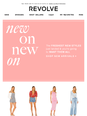 NEW is coming to a closet near you