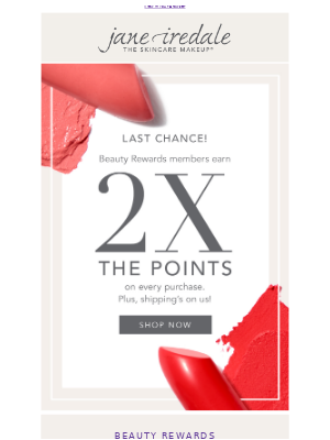 jane iredale - Double Points Event Ends Today!