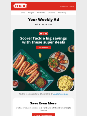H-E-B - Debra, your weekly ad is here!