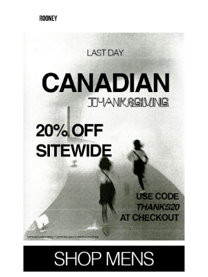 Rooney Shop - CANADIAN THANKSGIVING : WE HAVE A GIFT FOR YOU !