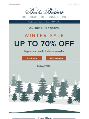 Brooks Brothers - So many styles now 70% off!