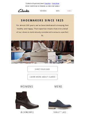 Clarks Shoes - Discover Clarks: Shoemakers Since 1825