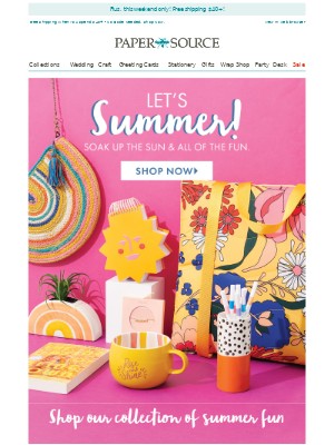 Let's Summer! Shop Our Fun in the Sun Collection.
