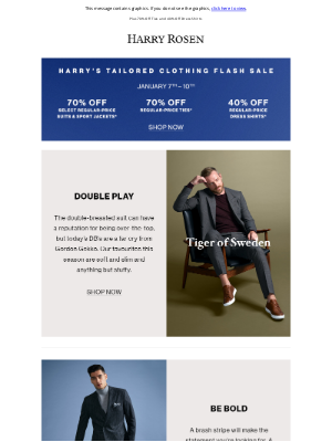 Harry Rosen - Suit Up! 70% Off Suits & Sports Jackets